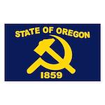 New Oregon Flag Rectangle Sticker 50 pk)