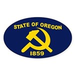 New Oregon Flag Oval Sticker (50 pk)