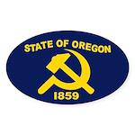 New Oregon Flag Oval Sticker (10 pk)