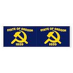 New Oregon Flag Bumper Sticker (50 pk)