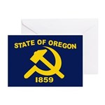 New Oregon Flag Greeting Cards (Pk of 20)