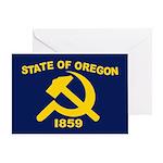 New Oregon Flag Greeting Card