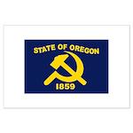 New Oregon Flag Large Poster