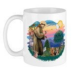 St Francis / 2 Yorkshire Terriers Mug