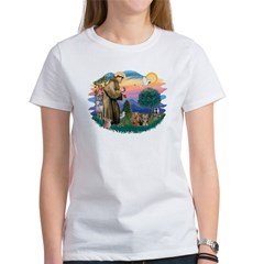 St Francis / 2 Yorkshire Terriers Women's T-Shirt