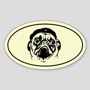Pug Revolution! Icon Oval Sticker