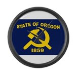 New Oregon Flag Large Wall Clock