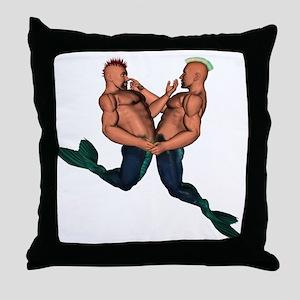 Mermen Throw Pillow