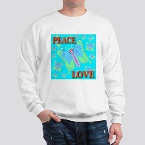 Peace & Love Butterflies Skyb Sweatshirt