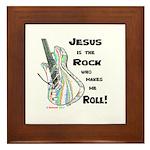 Jesus is my Rock! Framed Tile