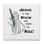 Jesus is my Rock! Tile Coaster
