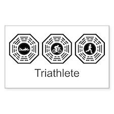 Triathlon Lost Rectangle Sticker