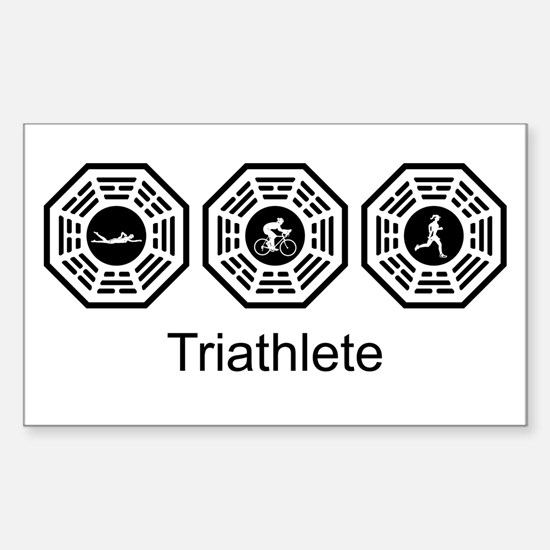 Triathlon Lost Rectangle Decal