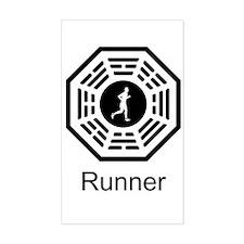 Runner Lost Rectangle Sticker