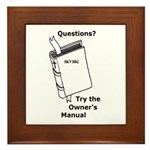 Owner's Manual Framed Tile