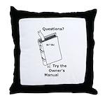 Owner's Manual Throw Pillow