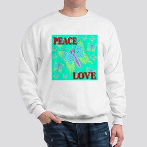 Peace & Love Butterflies Exot Sweatshirt