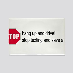 Stop Texting Rectangle Magnet