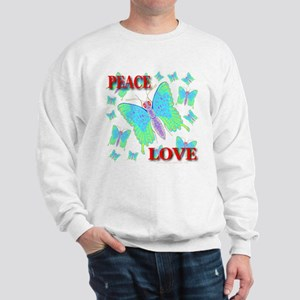Peace & Love Butterflies Virg Sweatshirt