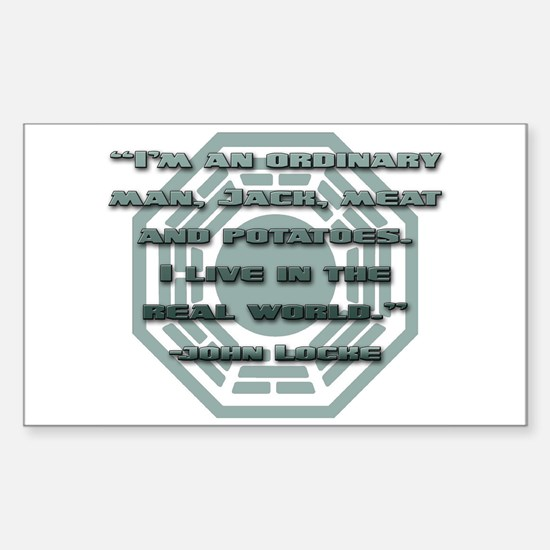 Meat And Potatoes Rectangle Decal