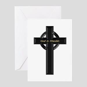 God is Humble Greeting Card