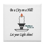Shining Light Tile Coaster