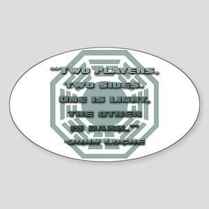 Backgammon Oval Sticker