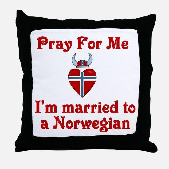Norwegian Throw Pillow