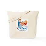 I Love My New Sister Tote Bag