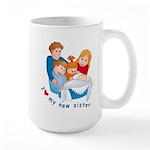 I Love My New Sister Large Mug