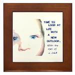 Child's Eyes Framed Tile