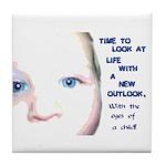 Child's Eyes Tile Coaster
