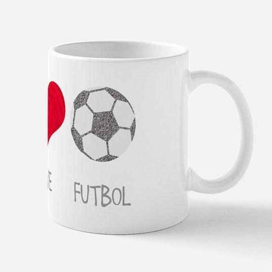Peace Love Futbol Mug