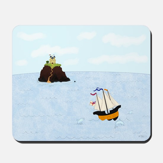 Sailing by the Castle Mousepad