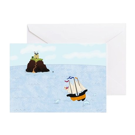 Sailing by the Castle Greeting Card