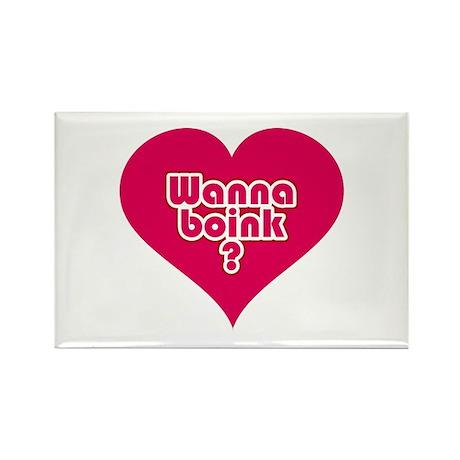 Wanna Boink? Rectangle Magnet