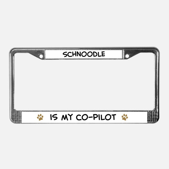 Co-pilot: Schnoodle License Plate Frame