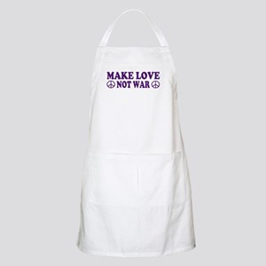 Make love not war - peace Apron