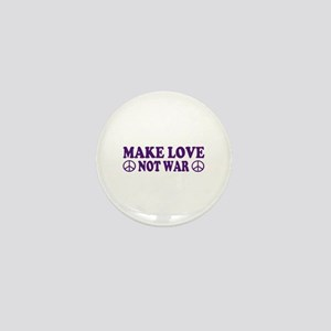 Make love not war - peace Mini Button