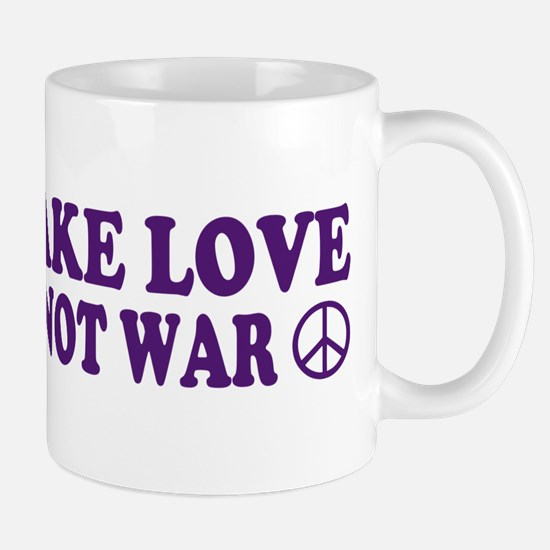 Make love not war - peace Mug
