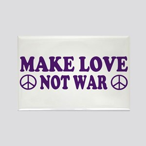 Make love not war - peace Rectangle Magnet