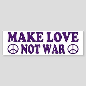 Make love not war - peace Bumper Sticker