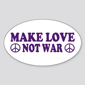 Make love not war - peace Oval Sticker