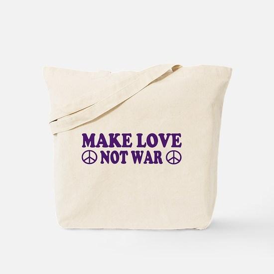 Make love not war - peace Tote Bag