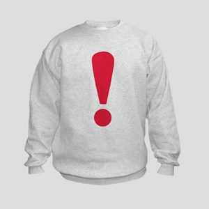 Exclamation point Kids Sweatshirt