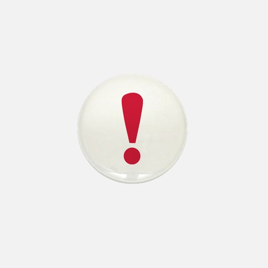 Exclamation point Mini Button
