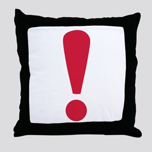 Exclamation point Throw Pillow