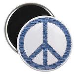 Blue Peace Sign Magnet