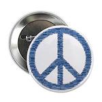 Blue Peace Sign 2.25