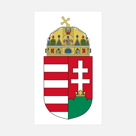 Hungary Coat of Arms Rectangle Sticker 10 pk)